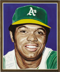 Baseball Collectibles:Others, Reggie Jackson Portrait from the 500 Home Run Club Series by AndyJurinko. Mr. October clubbed 563 home runs, but none are ...