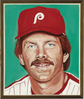 Baseball Collectibles:Others, Mike Schmidt Portrait from the 500 Home Run Club Series by Andy Jurinko. The greatest home run slugger in the history of th...