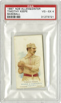 Baseball Cards:Singles (Pre-1930), 1887 N28 Allen & Ginter Timothy Keefe Baseball PSA VG-EX 4. Three years before his card was issued in one of the most gorge...