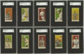 "Baseball Cards:Sets, 1908-1909 E102 Anonymous ""Set of 25"" Complete SGC-Graded SetWithout Variations (25). The manufacturer of this rare issue i...(Total: 25 )"