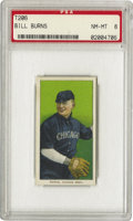 Baseball Cards:Singles (Pre-1930), 1909-11 T206 Bill Burns PSA NM-MT 8. In 1919, while in Cincinnatiselling oil stock, he reportedly learned of the Black Sox...