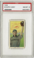 Baseball Cards:Singles (Pre-1930), 1909-11 T206 Scoops Carey PSA NM-MT 8. A player from the minorleague Memphis team and one of the only images of his known....