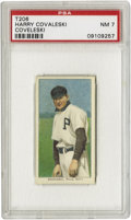 Baseball Cards:Singles (Pre-1930), 1909-11 T206 Harry Covaleski PSA NM 7. Thrust into the midst of a furious pennant race when he was called up by the Philli...