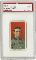 "Baseball Cards:Singles (Pre-1930), 1909-11 T206 Frank Chance Red Portrait PSA NM 7. He was dubbed ""ThePeerless Leader"" as he led the Cubs to pennants in 1906..."