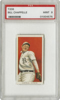 Baseball Cards:Singles (Pre-1930), 1909-11 T206 Bill Chappelle PSA Mint 9. A veteran of the Nationaland Federal Leagues, Chappelle was with the Eastern Leagu...