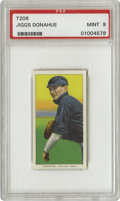 Baseball Cards:Singles (Pre-1930), 1909-11 T206 Jiggs Donohue PSA Mint 9. Misspelled on his tobacco card, Donahue took first sack duties for the Chicago White...