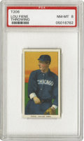 Baseball Cards:Singles (Pre-1930), 1909-11 T206 Lou Fiene Throwing PSA NM-MT 8. White Sox pitching acefrom 1906-1909 who helped win the 1906 World Series. No...