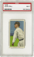 Baseball Cards:Singles (Pre-1930), 1909-11 T206 John Frill PSA NM 7. Plating only a couple of years inthe majors, he came up with the NY Highlanders in 1910 ...
