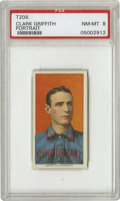 Baseball Cards:Singles (Pre-1930), 1909-11 T206 Clark Griffith Portrait PSA NM-MT 8. Managed theCincinnati Reds from 1909-1911 until Ban Johnson asked to reb...