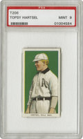 Baseball Cards:Singles (Pre-1930), 1909-11 T206 Topsy Hartsel PSA Mint 9. This dependable leftfielderled the American League in stolen bases and runs scored ...