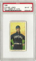 "Baseball Cards:Singles (Pre-1930), 1909-11 T206 Fielder Jones Chi. Hands At Hips PSA NM-MT 8. Mostremembered as the manager of the 1906 White Sox, the ""Hitle..."