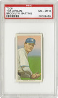 Baseball Cards:Singles (Pre-1930), 1909-11 T206 Tim Jordan Brooklyn Batting PSA NM-MT 8. The popular Jordan was one of the few players to live up to the Brook...