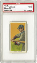 Baseball Cards:Singles (Pre-1930), 1909-11 T206 Lefty Leifield Batting PSA NM 7. He won twenty gamesin 1907 and nineteen for the 1909 Pirate pennant winners....