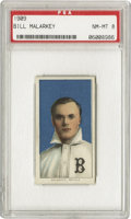 Baseball Cards:Singles (Pre-1930), 1909-11 T206 Bill Malarkey PSA NM-MT 8. There are several cards ofthis minor leaguer in this set. One of the nicer portrai...