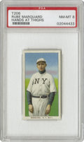 Baseball Cards:Singles (Pre-1930), 1909-11 T206 Rube Marquard Hands At Thighs PSA NM-MT 8. Hall ofFame New York Giants pitching ace, who along with battery-m...