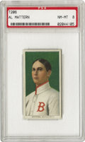 Baseball Cards:Singles (Pre-1930), 1909-11 T206 Al Mattern PSA NM-MT 8. In 1910 Mattern pitched six shutouts for the Boston Braves who were losing over 100 ga...