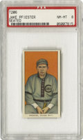 Baseball Cards:Singles (Pre-1930), 1909-11 T206 Jack Pfiester Seated PSA NM-MT 8. A Cub lefthander adroit at holding runners on base. Superb registration and ...