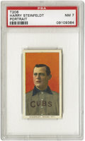 Baseball Cards:Singles (Pre-1930), 1909-11 T206 Harry Steinfeldt Portrait PSA NM 7. The Cubs catcher in the Tinker to Evers to Chance era. Very even bordering...