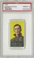 Baseball Cards:Singles (Pre-1930), 1909-11 T206 George Stovall Portrait PSA NM-MT 8. Stovall played more games at first base for the Indians than anyone but H...