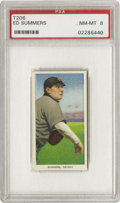 Baseball Cards:Singles (Pre-1930), 1909-11 T206 Ed Summers PSA NM-MT 8. Summers went twenty-four andtwelve as a rookie with the pennant-winning Tigers in 190...