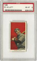 Baseball Cards:Singles (Pre-1930), 1909-11 T206 Ed Willett PSA NM-MT 8. 1909 was his best season, ashe went twenty-one and ten with a 2.34 ERA and finished t...