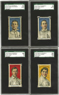 Baseball Cards:Lots, 1910 E104-1 Nadja Caramels Philadelphia Athletics Collection (4).These scarce E cards present the members of the 1910 Worl...(Total: 4 )