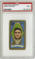 Baseball Cards:Singles (Pre-1930), 1911 T205 Boss Schmidt PSA NM 7. A brawler who boxed an exhibitionwith Heavyweight Champ Jack Johnson, Schmidt became the ...