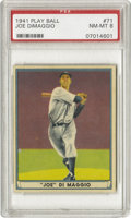 Baseball Cards:Singles (1940-1949), 1941 Play Ball Joe DiMaggio #71 PSA NM-MT 8. With 356 submissionsto the PSA grading service at the time of this writing, o...