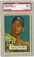 Baseball Cards:Singles (1950-1959), 1952 Topps Mickey Mantle #311 PSA NM 7. Sometimes the collectingstars align, as was clearly the case when the Topps compan...