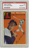 Baseball Cards:Singles (1950-1959), 1954 Topps Ted Williams #1 PSA NM-MT 8. We've said it before andwe'll say it again--collectors should always pay close att...