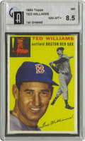 Baseball Cards:Singles (1950-1959), 1954 Topps Ted Williams #250 GAI NM-MT 8.5. An important card from the Splendid Splinter's first full season back at Fenway...