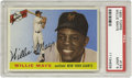 Baseball Cards:Singles (1950-1959), 1955 Topps Willie Mays #194 PSA Mint 9. With gloss so slick you'dexpect the card to still be wet from the printer, and a c...
