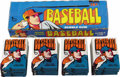 Baseball Cards:Sets, 1972 Topps Baseball High-Number Wax Box (24). Twenty-four fresh 10cent packs housed in a clean display box. Bottom of the ...