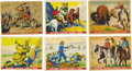 Miscellaneous Collectibles:General, 1937 Gum, Incorporated Wild West Series Complete Set (48). Cards1-24 and 26-49 are here with red lines creating the puzzle ...