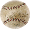 Baseball Collectibles:Balls, 1928 Babe Ruth 470th Career Home Run Baseball, Signed. Those who followed our previous Signature auction in May 2006 will a...