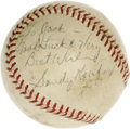 Baseball Collectibles:Balls, 1962 Sandy Koufax 1,000th Strike Out Game Used Baseball, Signed. A three to one loss to the Chicago Cubs this date couldn't...