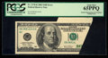 Error Notes:Foldovers, Fr. 2178-B $100 2003 Federal Reserve Note. PCGS Gem New 65PPQ.. ...