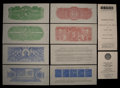 Confederate Notes:Group Lots, Set of Six Chemicograph Backs Intended for Confederate Currency..... (Total: 6 notes)