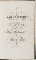 Books:Literature Pre-1900, [First Steel Engraving]. Peter Coxe. The Social Day. London:Carpenter & Ackermann, 1823. First edition, Large P...