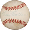 Autographs:Baseballs, Circa 1940 Billy Southworth Single Signed Baseball....