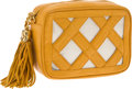 Luxury Accessories:Bags, Chanel Yellow Leather and Plastic Criss-Cross Square Bag with GoldHardware. ...