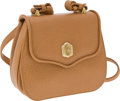 Luxury Accessories:Bags, Kieselstein-Cord Tan Textured Leather Flap Bag with Long Strap. ...