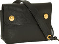 Luxury Accessories:Bags, Hermes Black Ardennes Leather Belt Pouch with Gold Hardware. ...