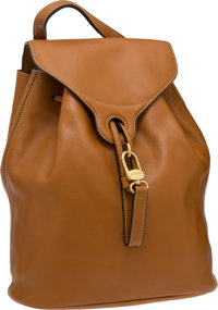 Delvaux Tan Leather Backpack