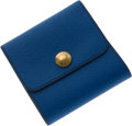 Luxury Accessories:Accessories, Hermes Blue Post-It Holder. ...