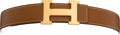 Luxury Accessories:Accessories, Hermes Tan Leather H Belt. ...