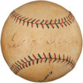 Autographs:Baseballs, 1920's George Sisler Single Signed Baseball....