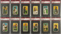 Baseball Cards:Lots, 1909-11 T206 White Borders Stars & Hall Of Famers PSA GradedCollection (35)....