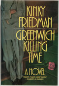 Books:Mystery & Detective Fiction, Kinky Friedman. Greenwich Killing Time. New York: Beech TreeBooks/William Morrow, 1986. First edition. Octavo. ...