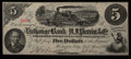 Obsoletes By State:Indiana, Michigan City, IN/(Marshall, MI)- Exchange Bank of H.J. Perrin & Co./Michigan City and South Bend Plank Road Co. $5 Apr. 186...